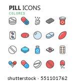 simple modern set of pills and... | Shutterstock .eps vector #551101762