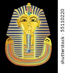 Mask Of The Pharaoh On A Black...