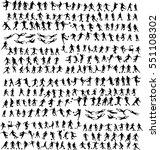 set of people. sport. football. ... | Shutterstock .eps vector #551108302