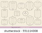 big vector set of vintage... | Shutterstock .eps vector #551114308