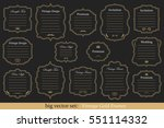 big vector set of vintage gold... | Shutterstock .eps vector #551114332