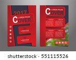 red vector annual report... | Shutterstock .eps vector #551115526