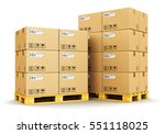 cargo  delivery and... | Shutterstock . vector #551118025