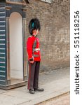 A Guard Standing Outside...
