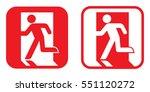 fire exit sign . vector... | Shutterstock .eps vector #551120272