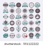 vintage labels and logotypes...   Shutterstock .eps vector #551122222