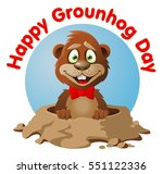 smiling  marmot.  symbol of...   Shutterstock .eps vector #551122336