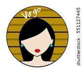 virgo zodiac sign. icon with... | Shutterstock .eps vector #551127445