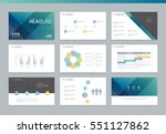 page layout design template for ... | Shutterstock .eps vector #551127862
