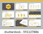 page layout design template for ... | Shutterstock .eps vector #551127886