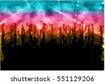 dancing people silhouettes.... | Shutterstock .eps vector #551129206