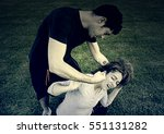 Small photo of Girl abused by her boyfriend, aggression and violence