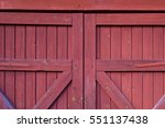Close Up Of A Wooden Red Barn...