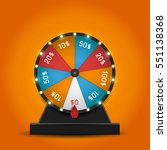 color lucky wheel template.... | Shutterstock .eps vector #551138368