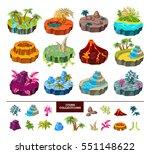 islands of computer game... | Shutterstock .eps vector #551148622