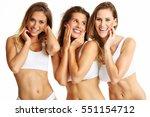 group of happy friends in...   Shutterstock . vector #551154712