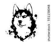 husky. black and white...   Shutterstock .eps vector #551158048