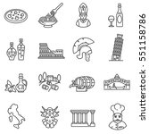 italy icons set. tourism and...   Shutterstock .eps vector #551158786