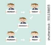 funny cartoon character.avatar... | Shutterstock .eps vector #551158855
