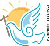Dove For Peace With Cross