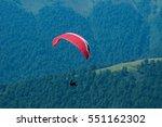 Paraglider Flies Paraglider...