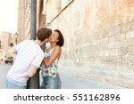 beautiful ethnically diverse... | Shutterstock . vector #551162896