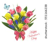 greeting card valentine's day.... | Shutterstock .eps vector #551166238