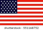 usa vector flag  | Shutterstock .eps vector #551168752