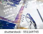 various type of financial and... | Shutterstock . vector #551169745
