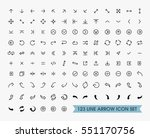 thin line arrow icons set | Shutterstock .eps vector #551170756