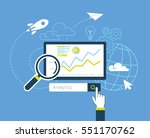flat design of analytic search... | Shutterstock .eps vector #551170762