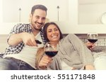 close up of a young couple... | Shutterstock . vector #551171848