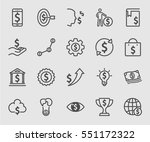 dollar sign concept line icon | Shutterstock .eps vector #551172322