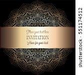 wedding invitation or card  ... | Shutterstock .eps vector #551174512