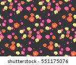 seamless pattern of portulaca... | Shutterstock .eps vector #551175076