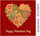 happy valentines day and... | Shutterstock .eps vector #551176672