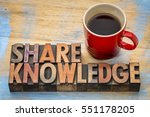 share knowledge word abstract... | Shutterstock . vector #551178205