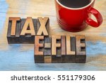 tax electronic filing concept   ... | Shutterstock . vector #551179306