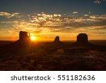 monument valley on the border... | Shutterstock . vector #551182636