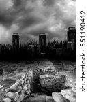 dead city | Shutterstock . vector #551190412