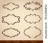 set of vintage frames for your... | Shutterstock .eps vector #551200852