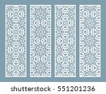 laser cut decorative lace... | Shutterstock .eps vector #551201236