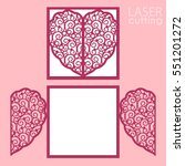 laser cut wedding invitation or ... | Shutterstock .eps vector #551201272