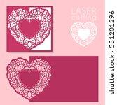laser cut wedding invitation or ... | Shutterstock .eps vector #551201296