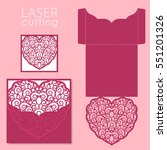 laser cut wedding invitation or ... | Shutterstock .eps vector #551201326