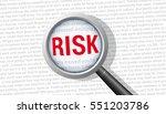 risk magnifying glass   Shutterstock .eps vector #551203786