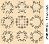 set of mandala frames.... | Shutterstock .eps vector #551203828
