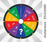 fortune wheel in flat style | Shutterstock .eps vector #551210485