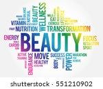 beauty word cloud  fitness ... | Shutterstock .eps vector #551210902