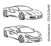 sport cars silhouettes. vector... | Shutterstock .eps vector #551215648